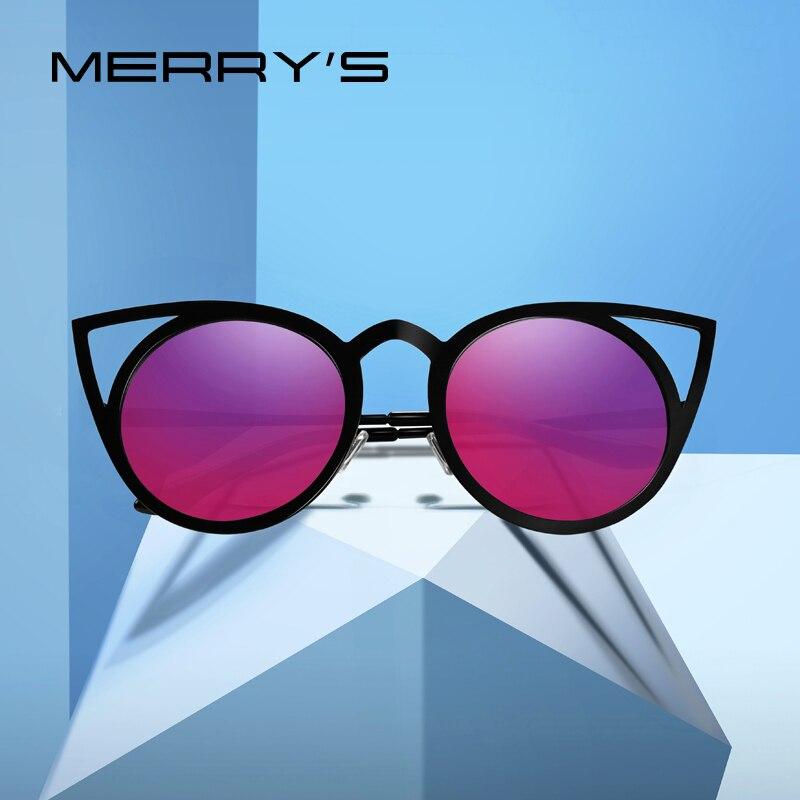 a0150a0f9 رخيصة MERRYS تصميم النساء القط العين النظارات الشمسية السيدات تتجه نظارات  شمسية نظارات دائرية UV400 حماية