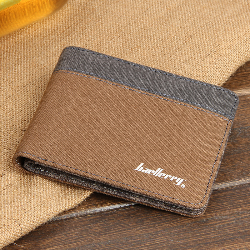 Hot Sale Explosion Models Korean Version Canvas Men's Wallets Short Style Purse Fashion Wallet For Men And Student Free Shipping free shipping 2016 autumn and winter explosion models men korean version of slim long warm hooded coat