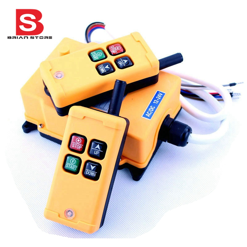 HS-4 2 Tansmitters 4 Channels 1 Speed Control Hoist Crane Radio Remote Control System