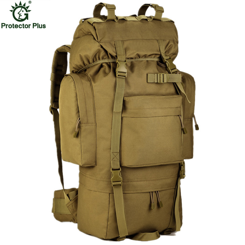 Large Capacity 70L Metal Bracket 2016 Men Backpack Multi-function Waterproof Nylon Bag Camouflage Pack Free Shipping