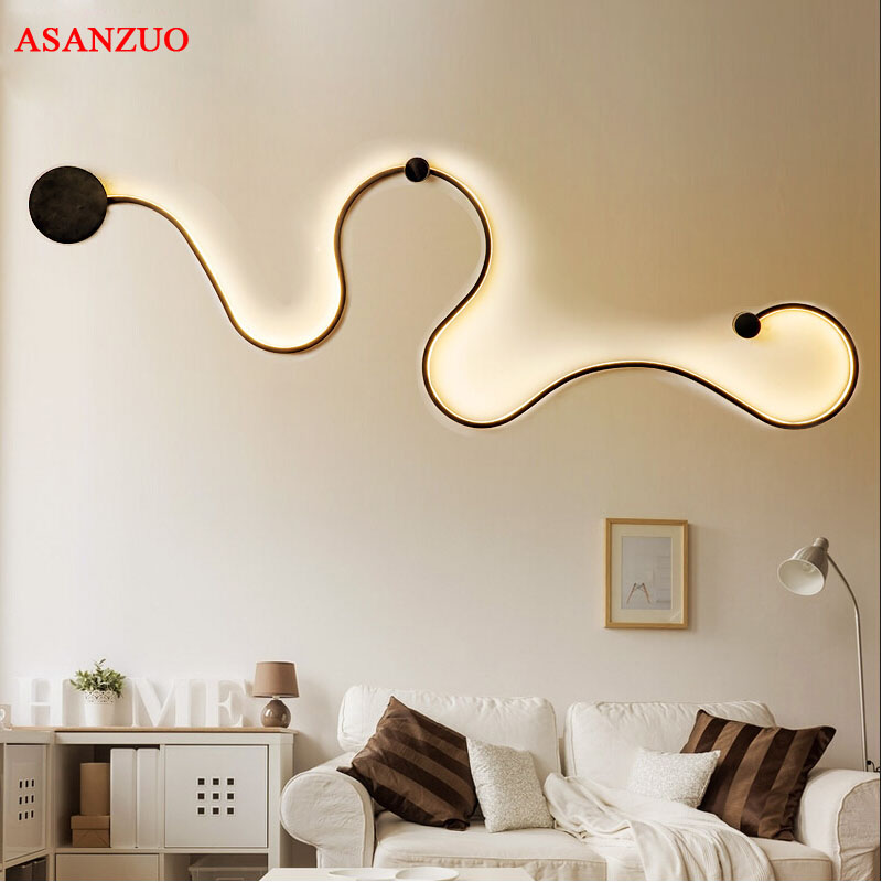 Lights & Lighting Led Indoor Wall Lamps Modern Led Wall Lamp Indoor Decorative Sconce Living Room Corridor Light