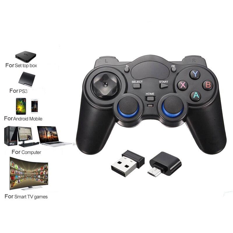 2.4G Sans Fil Bluetooth Gamepad Pour PS3 Android Téléphone PC TV Box Joystick Joypad Contrôleur de Jeu À Distance Pour Xiaomi OTG téléphone