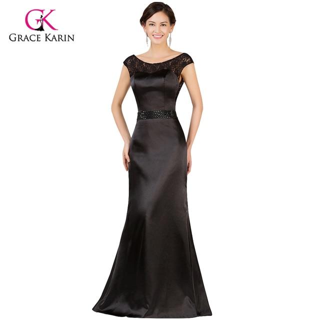 Black Evening Dresses Grace Karin Lace V Back Mother of the Bride ...