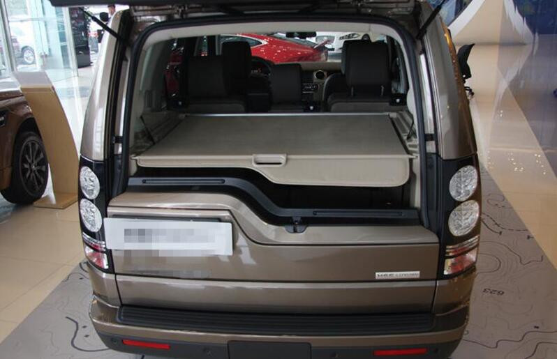 Aluminum+Canvas Beige and black Rear Cargo Cover Trunk Shade Security For Land Rover LR4 Discovery 4  2010 2011 2012 2013 - 2015 for nissan x trail 2008 2009 2010 2011 2012 2013 retractable rear cargo cover trunk shade security cover black auto accesaries