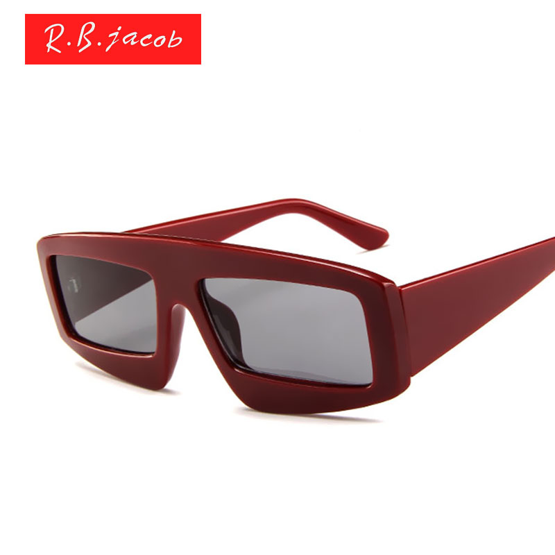 Square Sunglasses Women Brand Designer Sun glasses Lady Eyewear Cheap Female Vintage Small Size Clear Lens Red Goggle