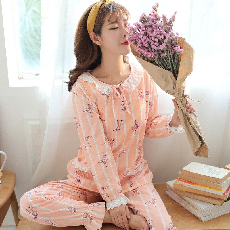 Breastfeeding Pajamas Breast Feeding Nightwear Maternity Nursing Pajama Sets Maternity Sleepwear Pregnancy Pyjama Cotton