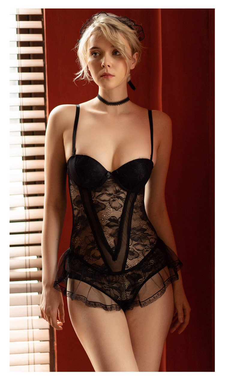 Sizzle Intimates Sexy Siamese Opening Bustier Lingerie