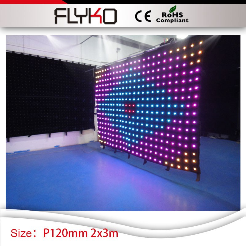 Colore affascinante trasporto libero P120mm 2*3 m bar sfondo decorazione led video 3in1 tenda colorata