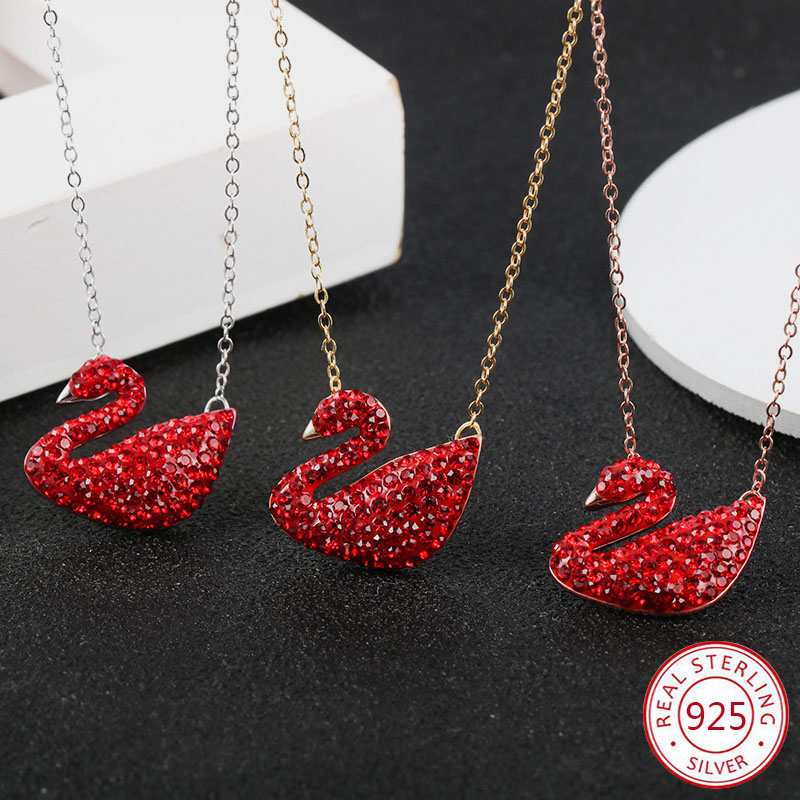 925 sterling silver pendant necklace personality fashion jewelry lucky female simple swan tag birthday gift 2019 new hot925 sterling silver pendant necklace personality fashion jewelry lucky female simple swan tag birthday gift 2019 new hot
