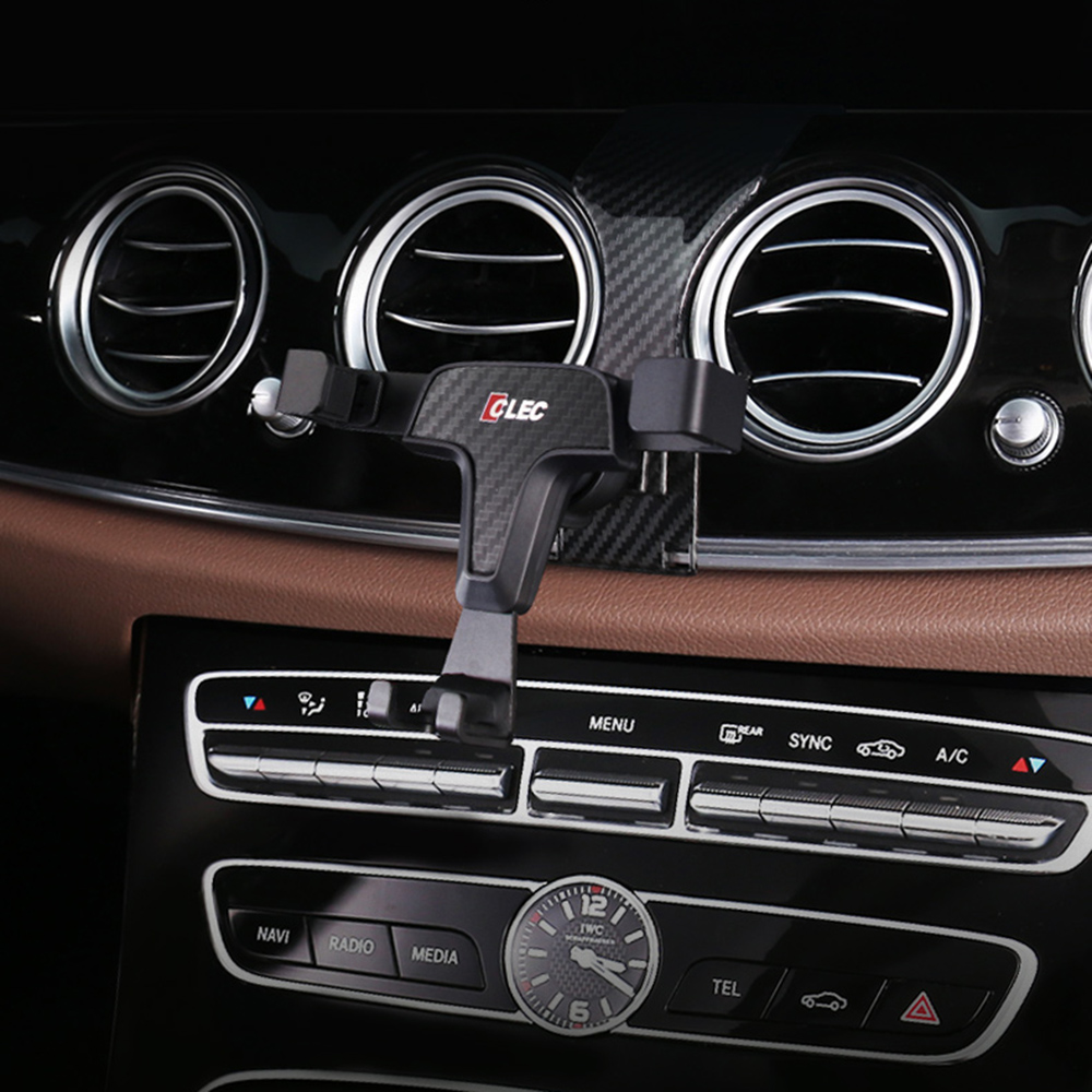Car Mobile Phone Holder For Mercedes-Benz E Class W213 E200 E400 E300 Car  360 Degree Gravity Stand GPS Wireless Charging Bracket