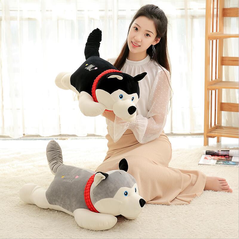 J244 Kawaii!!New Arrival 55cm Super Cute Simulation Husky Dogs Stuffed Doll Plush Toys Kids Gifts Wholesale aqua husky super matc