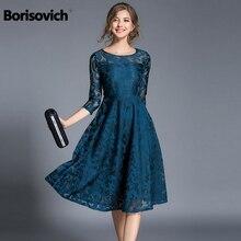 جديد من Borisovich موضة الربيع 2018 فستان حفلات نسائي أنيق وأنيق بتصميم إنجليزي فساتين نسائية غير رسمية من الدانتيل Vestidos M107