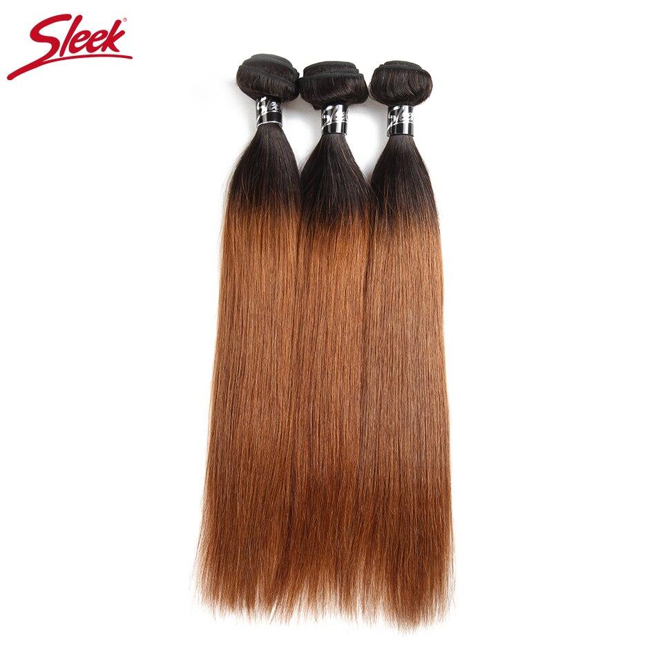 Sleek Remy Ombre Hair Bundles 100 Brazilian Human Hair Weave 3