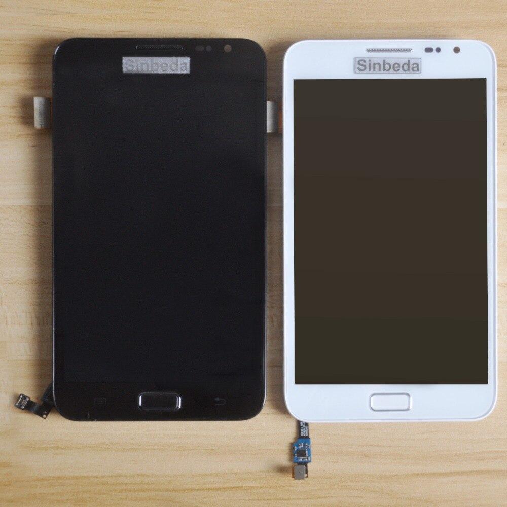 Sinbeda Super Amoled Pour Samsung Galaxy Note i9220 N7000 LCD Écran Écran Tactile Digitizer Assemblée Avec Cadre + Bouton À La Maison