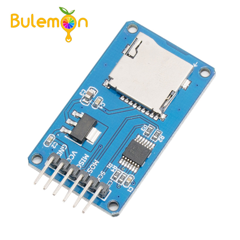 10pcs/lot Micro SD Module SPI Interface Mini TF Card Reader For Arduino image