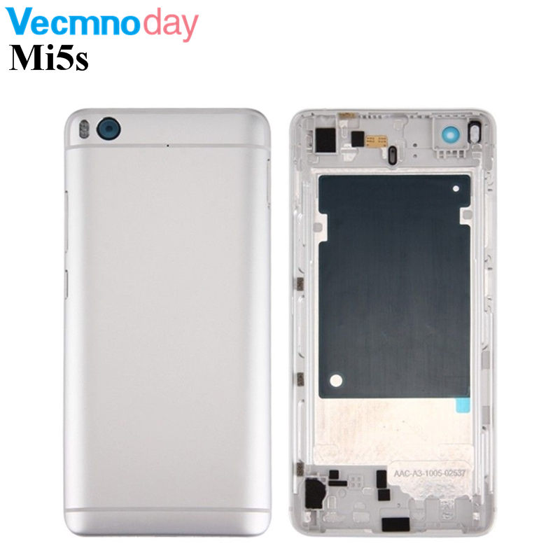 Vecmnoday 100% original Housing Metal Battery Cover Case For Xiaomi Mi5s Replacement Parts Back Battery Cover For Xiaomi Mi 5s