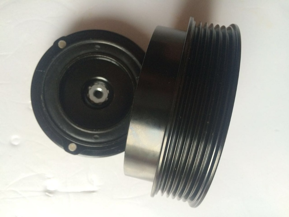 Auto ac compressor clutch pulley for toyota TV12SC compressor 119MM diameter 6PK 46mm height Bearing 30x52x22mm with plate