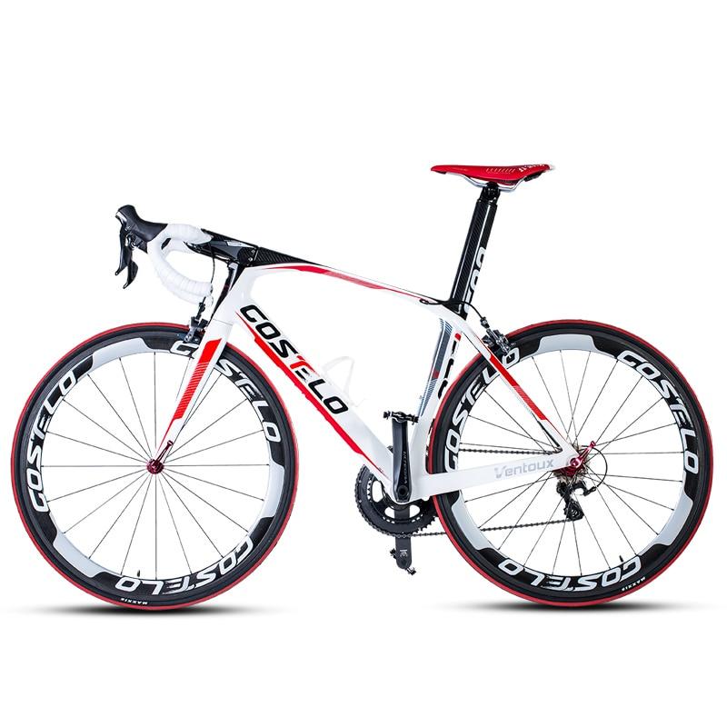 Vélo de route en fibre de carbone léger bike18-22 de route de course en carbone à vitesse variable