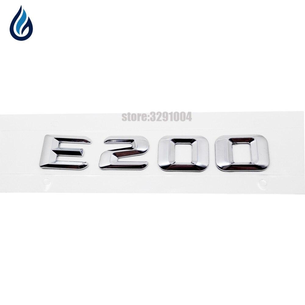 For Mercedes Benz E-Class E200 W110 W114 W115 W123 W124 W210 W211 W212 W207 Trunk Rear Lid Emblem Badge Alphabet Letter Decal 124 mercedes coupe на запчасти