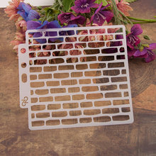 Brick Wall Tile Sticker Painting Stencils for Diy Scrapbooking Stamps Home Decor Paper Card Template Decoration Album Crafts Art cup coffee flower sticker painting stencils for diy scrapbooking stamps home decor paper card template decoration album crafts