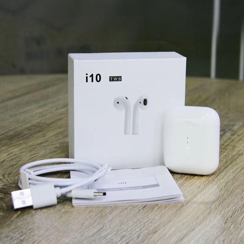 SZMDC i10 TWS Doppio Mini Air pod Senza Fili di tocco di Bluetooth Auricolari Auricolare Con Box Di Ricarica Microfono per Samsung Android Xiaomi i7s