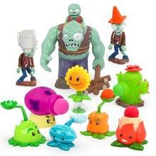 Crianças brinquedos plantas vs zumbis para crianças brinquedo de ação figuras brinquedo engraçado lançamento aniversário presente natal