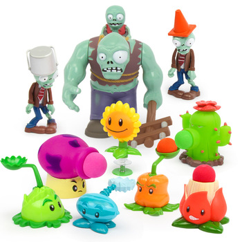 Kids Toys for Children Action Toy Figures Plants VS Zombies Toy Funny Launch Birthday Christmas Gift new led flashlight keychina with sound action toy figures raving rabbids keychain toys gift for child kids toys