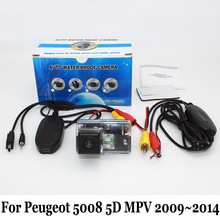 Car Rear View Camera For Peugeot 5008 5D MPV 2009~2014 / RCA AUX Wired Or Wireless / CCD Night Vision HD Wide Lens Angle Camera