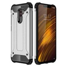 Armor Case For Xiaomi Pocophone F1 Soft TPU Cover Hard PC Hybrid 360 Full Cover For Xiaomi Poco F1 Luxury Case Anti-knock Fundas