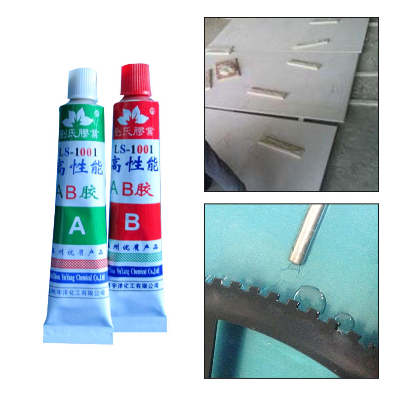 New A+B Epoxy Resin Adhesive Glue With Spatula For Super Bond Metal Plastic Wood