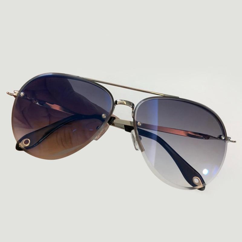 High Quality Luxury Brand Designer Women Oval Sunglasses Alloy Frame Eyewear Polarized Sunglasses UV400 Protection with Packing