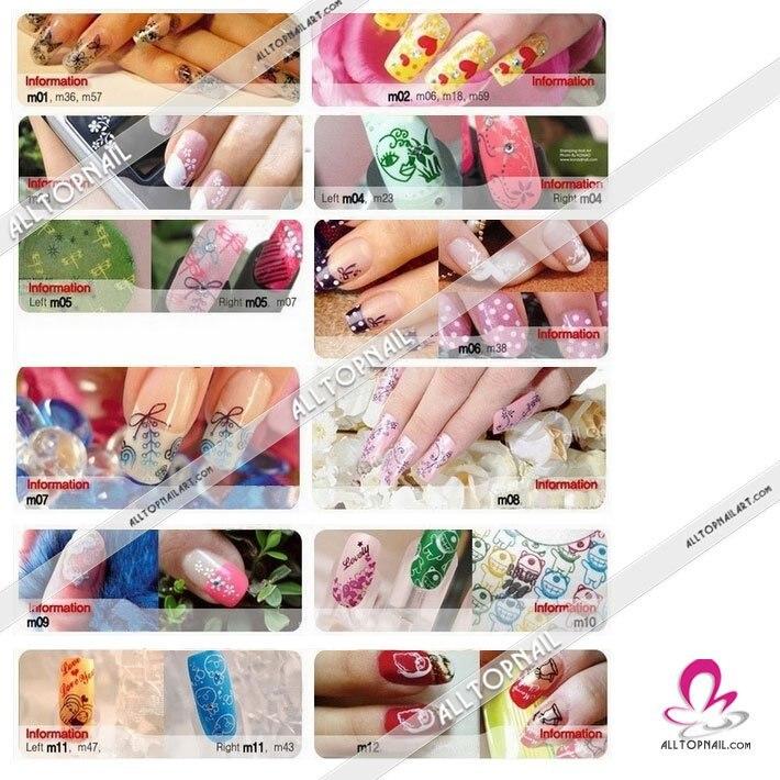 3526cm Big Size 337 Designs Konad Stamp Stamping Nail Art Diy Image