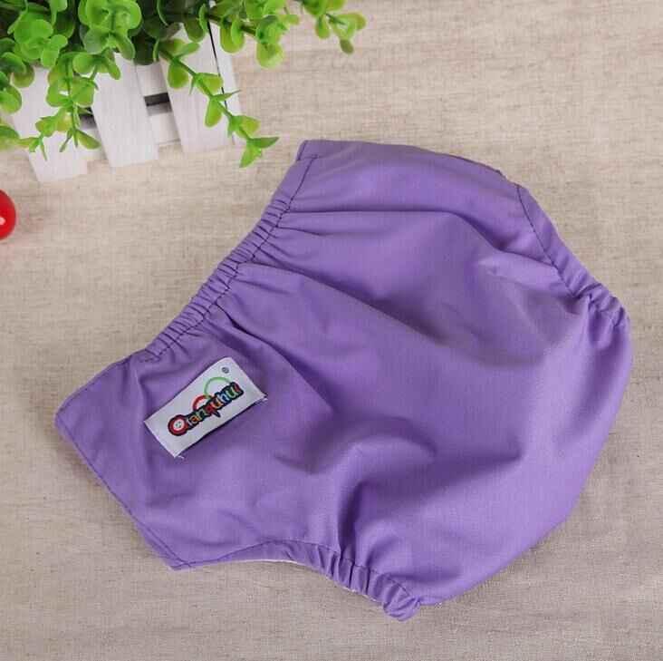 حفاضات للأطفال بعمر 0-3 سنوات قابلة لإعادة الاستخدام 7 ألوان قابلة للتعديل وقابل للغسل غطاء حفاضات من القماش قابل للتنفس شورتات للتدريب
