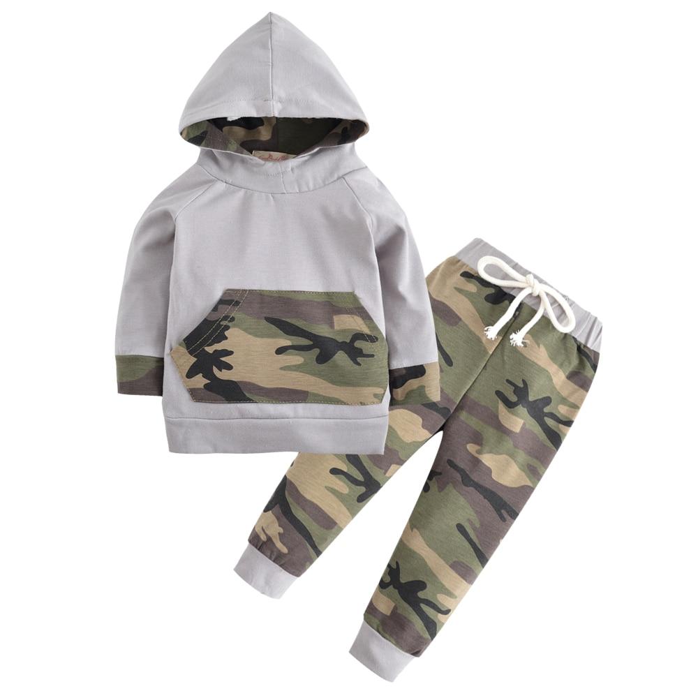 Kinderkind Kids Toddler Boy French Terry Sweatshirt and Rib Waist Denim Jeans Set