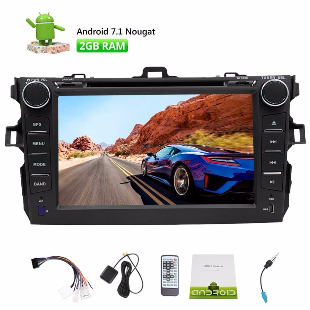 Android 7.1 Car Stereo For TOYOTA Corolla 8-core Car DVD Player GPS Navigation Bluetooth Touchscreen Radio Support WIFI 4G 3G