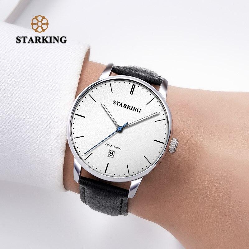 STARKING marque de luxe pas cher montre mécanique automatique Date automatique Auto-vent mâle horloge 28800 haute battre montre Relogio Sport TM0915 - 6