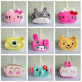 Lovely mini plush cartoon coin purse children kitty square storage cloth bag multifunction wallets for kids gift