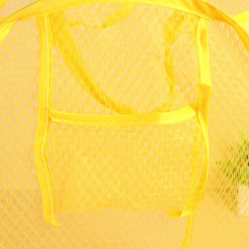 Cor aleatória Caixa de design de Malha Dobrável Cesta de Armazenamento de Malha Cesta De Lavagem Para O Brinquedo Roupa Suja respirável