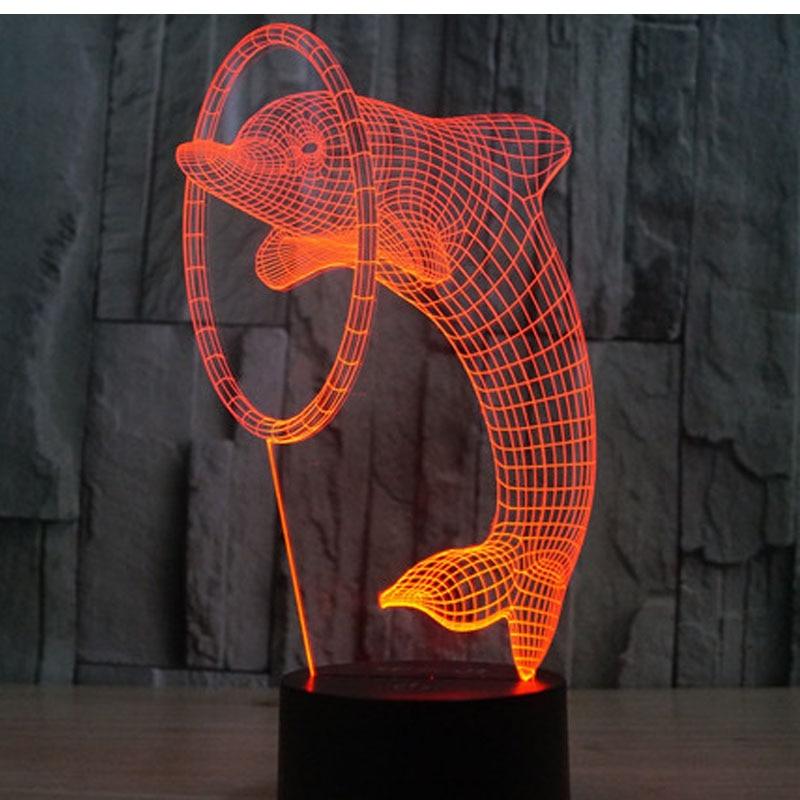 Luzes da Noite led 3d golfinho luz da Geração de Energia : Toque