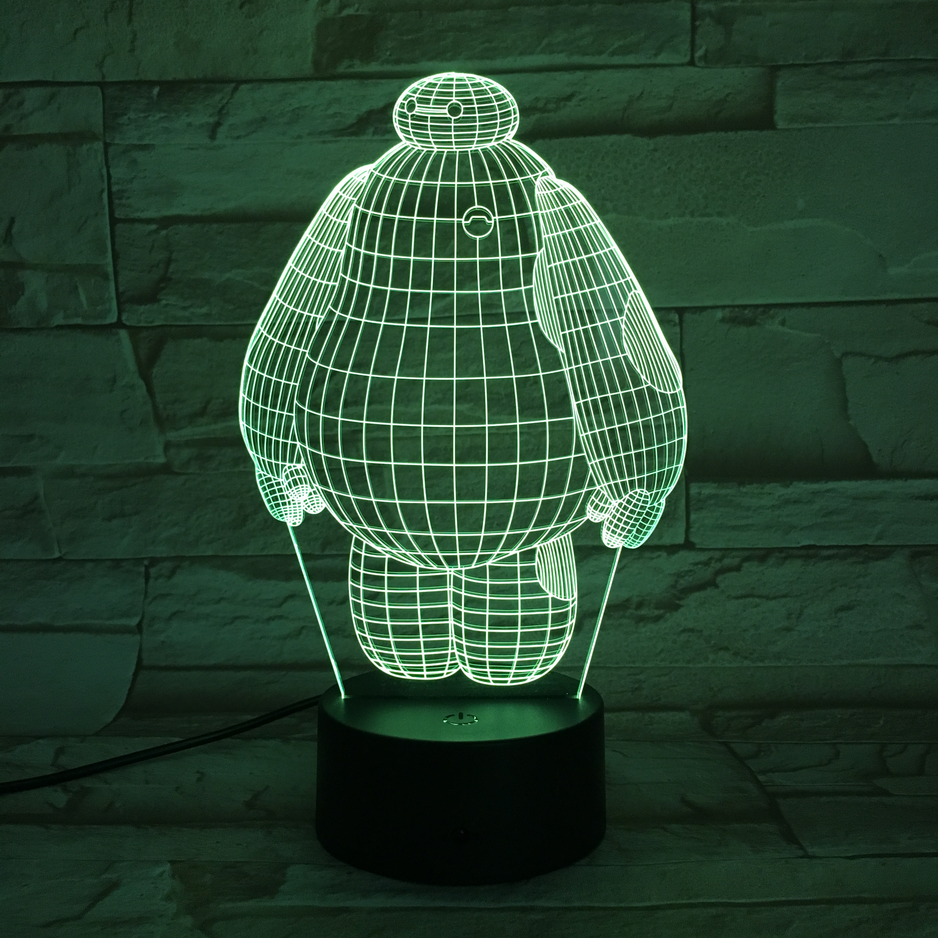 Cool Baby Led Night Lamp Baymax Big Hero 6 Nightlight for Kids Bed Room Touch Sensor Color Changing Light Children