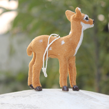 Merry Christmas Tree Hanging Ornament Gift Small Deer Figurines On Sale