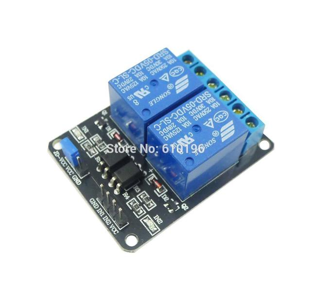 2 Channel NEW 5V 2-Channel Relay Module Shield  For Arduino ARM PIC AVR DSP Electronic With Optocoupler  Free Dropshipping
