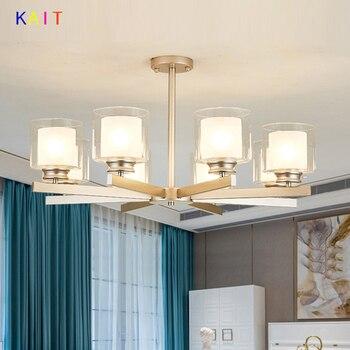 Modern Black gold silver Metal Led Chandeliers Lighting Lustre Living Room Led Pendant Chandelier Light Bedroom Hanging Lamp Fix