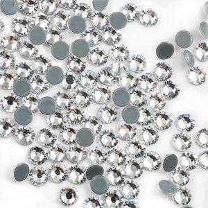 Image 2 - Toptan! 14400Pcs 1440Pcs sıcak düzeltme Rhinestone Flatback demir On düzeltme Strass kristal AB/temizle ince düğün elbisesi aksesuarları