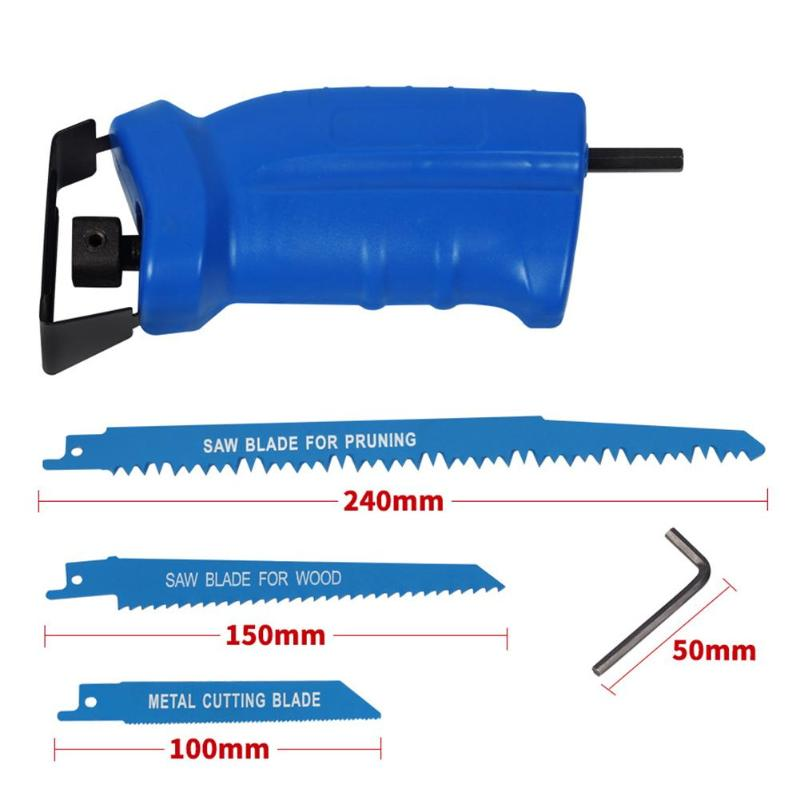 Portable Electric Drill Reciprocating W/ 3 Blades Multi-functional Electric Saw Metal Wood Cutting Tools Power Tool Accessories