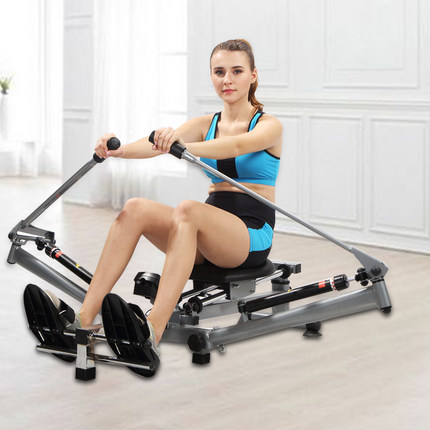 Row Machines Mutifunctional Stamina Body Glider Rowing Indoor Home Exercise Equipment Fitness Gym No installation Grey Sports