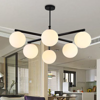 Modern Chandelier for Living Room Bedroom Indoor Lighting Fixtures Home Decoration Ball Round Iron Hanging Lamps Modern Lights