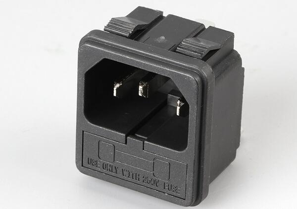 AC power socket with fuse plug male host chassis socket industrial socket