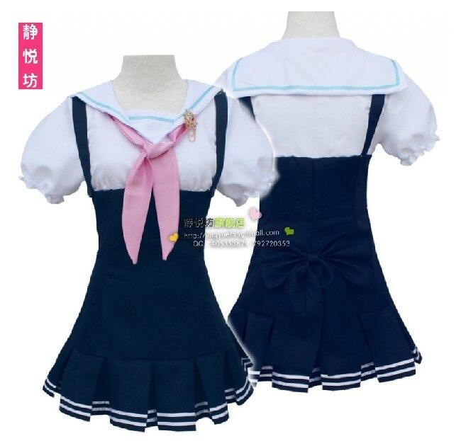 Lovelive Love Live Tojo Nozomi Navy Sailor Suit School Uniform Dress Outfit Anime Cosplay Costumes