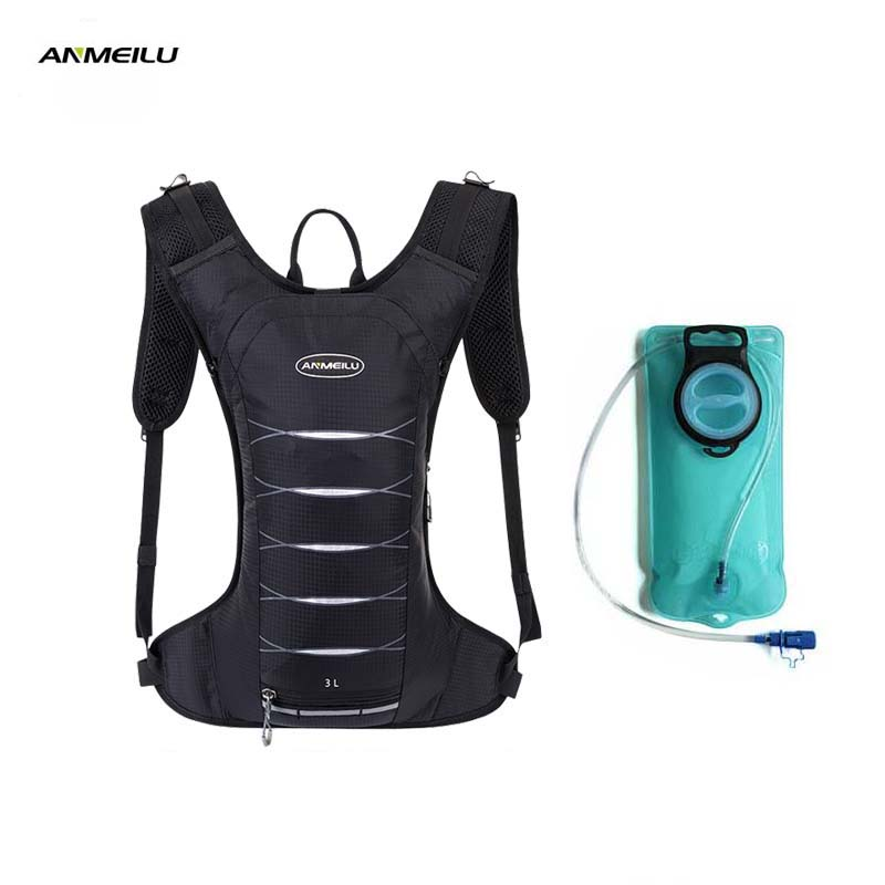 ANMEILU 3L Camping Hydration Backpack 2L Water Bladder Outdoor Sports Marathon Camelback Running Cycling Water Bag Camelback naturehike hot brand 3l peva bladder hydration bicycle camping hiking climbing outdoor camelback water bag green nh30y030 d